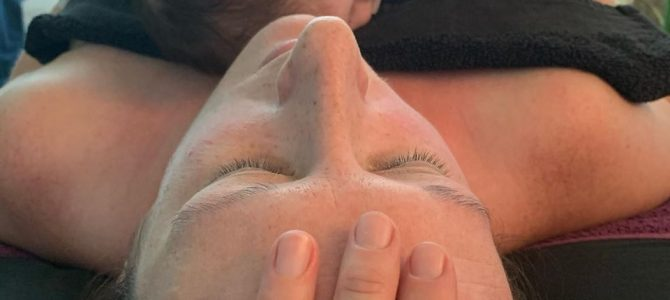 Jaw, face, neck and head massage